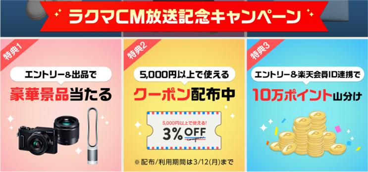 ラクマCM放送記念キャンペーン